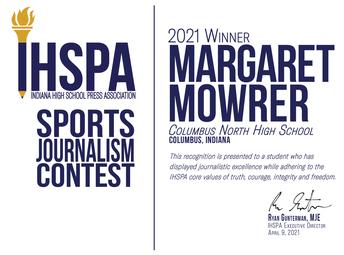 Sports journalism contest winners