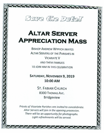 Altar Server Appreciation Mass