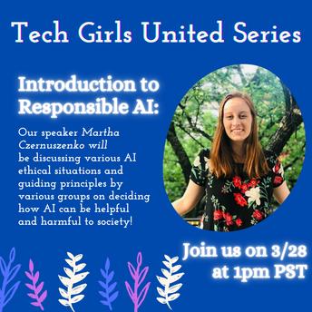 Tech Girls Unite Series -  March 28 1pm