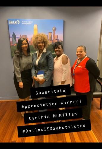 Congratulations to our Substitute Teacher Appreciation Week Winners!