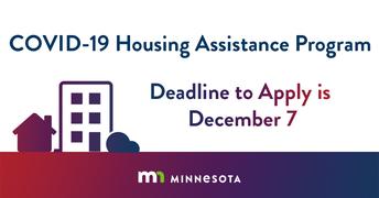 Deadline Dec 7: COVID Housing Assistance