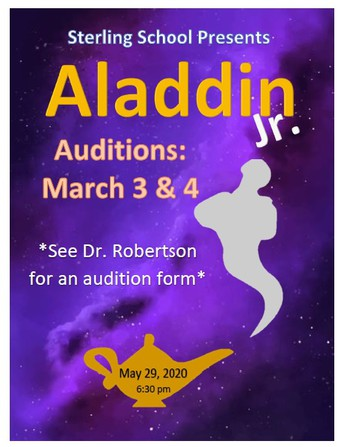 Audition for Aladdin Jr.!