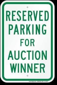 VIP Parking Spot Raffle