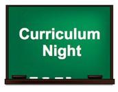 Curriculum Night - Thursday August 30th