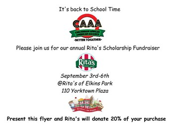 Rita's Scholarship Fundraiser