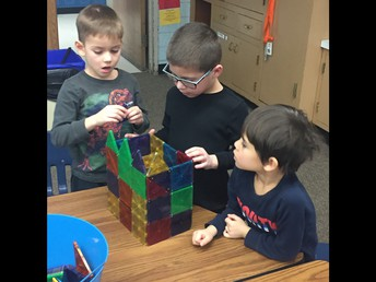 Working together to build a structure!