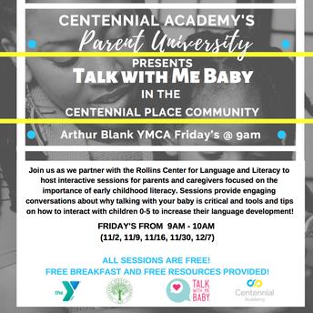 Centennial Academy's Parent University