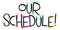 Next Week's Schedule  9/7-9/11