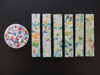 Melted plastic samples by Hasan Nacakgedijji.
