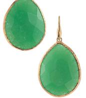 Jade Stone drop earrings