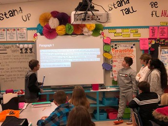 Krogman's Students Teaching One Another about Underground Railroad
