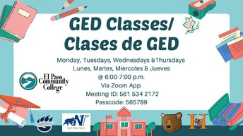 GED Classes -- Clases de GED
