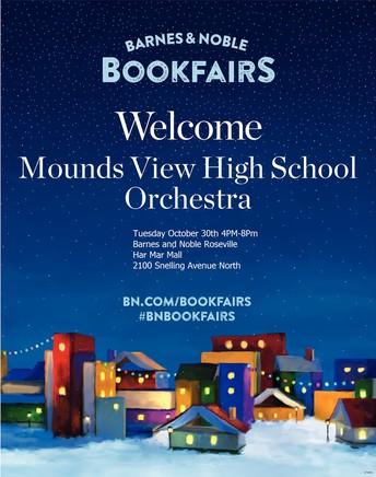 Mounds View High School Orchestra Book Fair Fundraising Concert