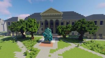 """Cornellians near and far build community through Minecraft""- Jamie Crow (The Cornell Chronicle)"