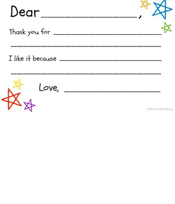 Write thank you notes or notes of appreciation to family and friends.