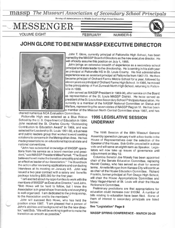 MoASSP MOURNS THE LOSS OF DR. JOHN T. GLORE