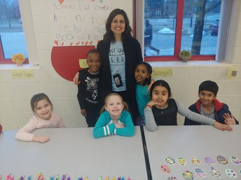 Ms. Rice and her students