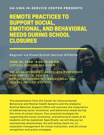 NEW SESSION ADDED! Remote Practices to Support Social, Emotional, and Behavioral Needs During School Closures
