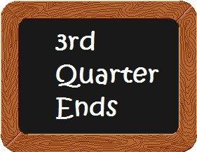 3rd Quarter Ends Friday, April 9th!
