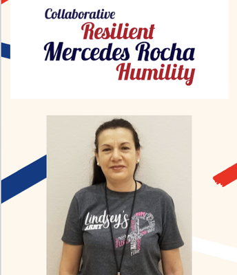 Facilities Staff Member of the Year: Mercedes Rocha!