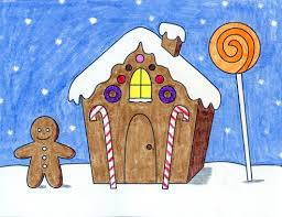 Directed Draw - Gingerbread House and Story