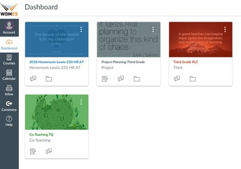Dashboard of Canvas Courses for PLC Work
