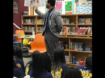 Author Visit in the Library