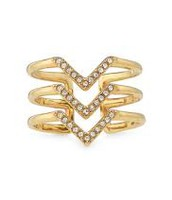 Pave Chevron Ring - Gold - size M/L