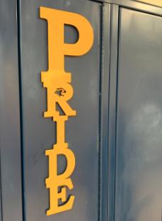 PRIDE locker sign