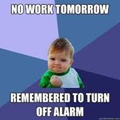 Sleep in!!!