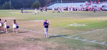 Homecoming Game: Our Fearless Leader Pacing the Sideline and Encouraging Our Eagles