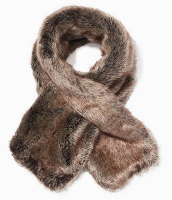 Chantel Scarf faux fur-reverses to dove grey