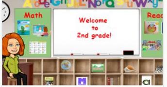 2nd Grade Bitmoji Classroom