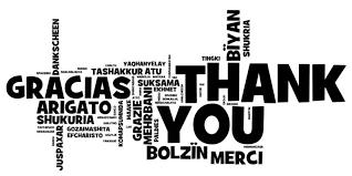 A note of gratitude..