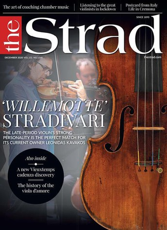 Herzog featured in The Strad magazine