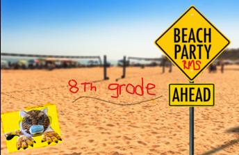 ¡Fiesta en la Playa de 8vo grado en Roosevelt!