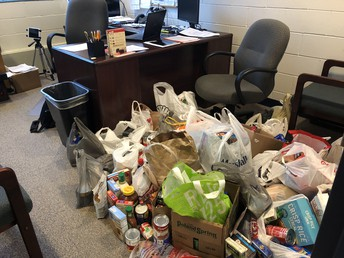Food Donations For CHIP-IN By Our Students...