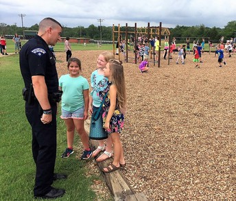 Officer Caldwell at Alma Intermediate School
