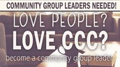 Community Group Leaders Needed