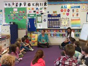 Miss Sarah & Miss Reppucci teaching our friends about the letter L!