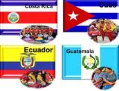 COSTA RICA, CUBA, ECUADOR, GUATEMALA