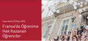 Fransa'da Öğrenime Hak Kazanan Öğrencilerimiz
