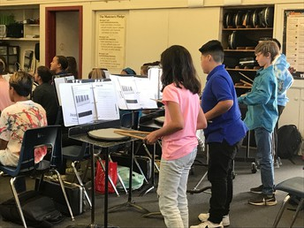 Beginning Percussion Students
