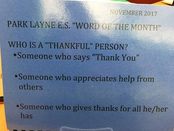 November Word of the Month - Thankful