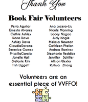 Thank you to Book Fair Volunteers!