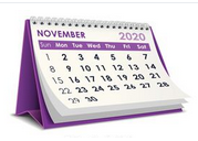 Schedule for the Week of November 2nd
