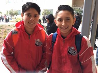 Anikan Tavarez and Anthony Medina Sporting New Jackets