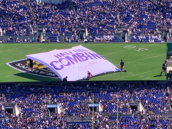 The Half-Time Combine at Ravens Stadium