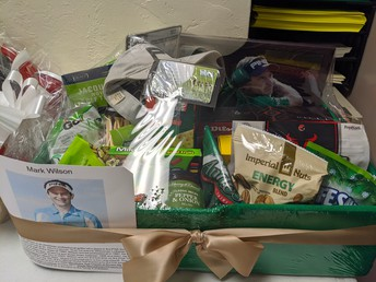 Golf Basket with Autogrphed Items