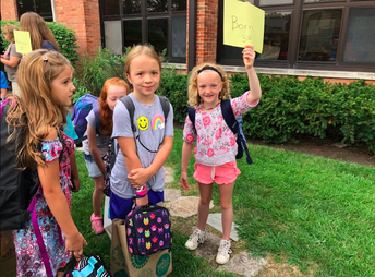 3rd Graders in Mrs. Born's class ready for school